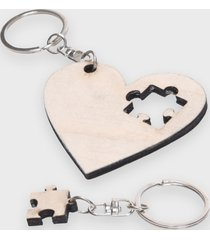brelok serce z puzzlem (gładki, bez nadruku)