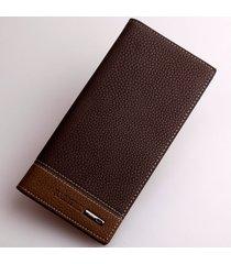 billetera, monedero lichi billetera larga de los-marrón