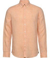 douglas linen shirt overhemd casual oranje morris
