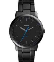 fossil men's the minimalist black stainless steel bracelet watch 44mm fs5308