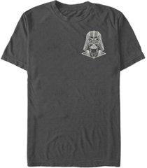fifth sun star wars men's left pocket geo vader short sleeve t-shirt