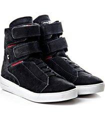 tênis sneaker rock fit couro nobuck fresh