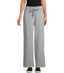 calvin klein women's wide-leg lounge pants - heather granite - size s