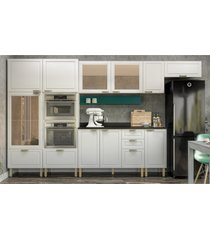 cozinha completa 10 peças americana multimóveis 5652mf branco/verde