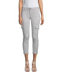 joie women's okana cropped cargo pants - fatigue - size 24 (0)