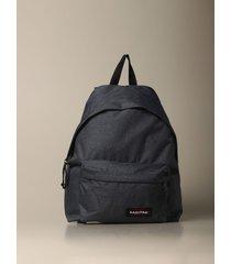 eastpak backpack padded pakr eastpak backpack in denim effect nylon