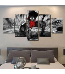 one piece luffy anime 5 piece canvas art wall art picture home decor