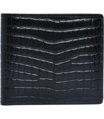 black croc-embossed wallet