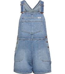 bib short jumpsuit blå wrangler