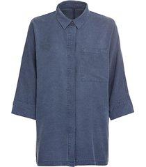 oversized blouse uit tencel™, nachtblauw 34