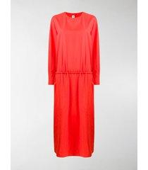 marni ruched cotton maxi dress