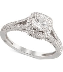 certified diamond engagement ring (1-1/4 ct. t.w.) in 18k white gold, created for macy's