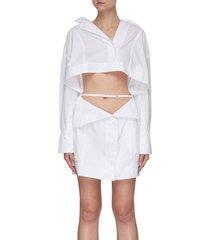 'la robe terraio' waist cutout shirt dress