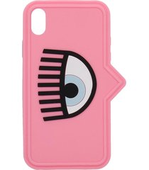 chiara ferragni iphone / ipad case in rose-pink pvc