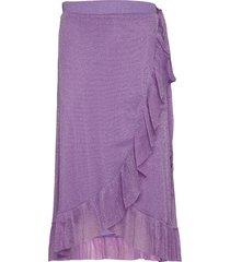 ninnet skirt knälång kjol lila résumé