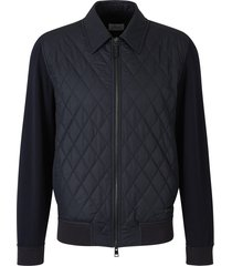 padded and knitted jacket