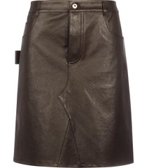 bottega veneta skirt stretch lambskin