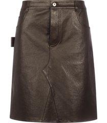 bottega veneta skirt stretch lambskin