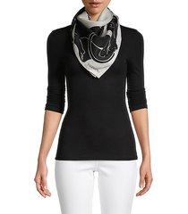 animal-print silk scarf