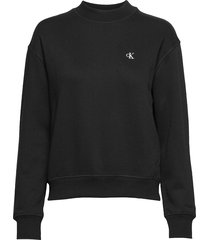 ck embroidery regular crew neck sweat-shirt trui zwart calvin klein jeans