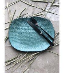 ceramiczny talerz obiadowy turquoise