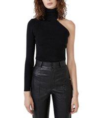 bardot one-shoulder turtleneck sweater