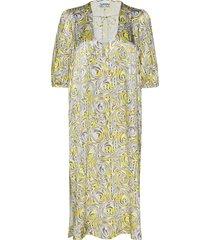 heavy satin long dress maxiklänning festklänning multi/mönstrad ganni