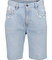 short jeans diesel strukt lichtblauw