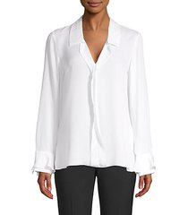masie ruffle silk blouse