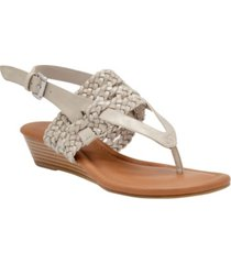 sugar women's sheri woven thong sandals women's shoes