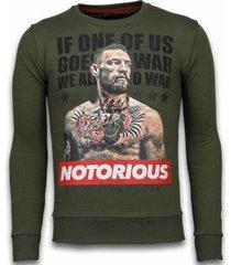 sweater local fanatic conor mcgregor - rhinestone sweater -