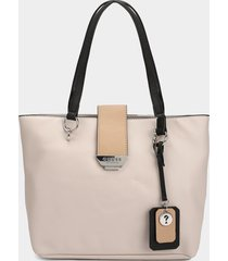 bolso beige-negro guess