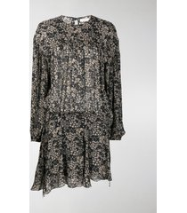 isabel marant étoile long-sleeved floral dress