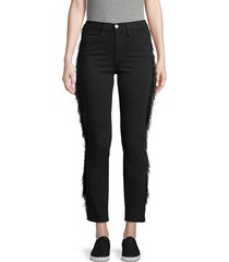 frame denim women's le high fringe skinny jeans - film noir - size 25 (2)