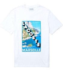 =crew neck landscape print t-shirt