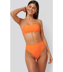 na-kd swimwear maxi high waist bikini panty - orange