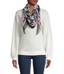 calvin klein women's floral-print scarf - black