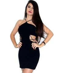 vestido up side wear decotado preto