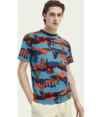 scotch & soda katoenen t-shirt met print