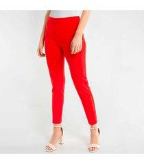 pantalon para mujer en crepé rojo
