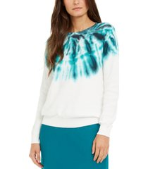 inc cotton tie-dye sweater, created for macy's