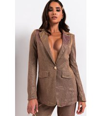 akira bo$$ b*tch coming through shimmer blazer and pant set