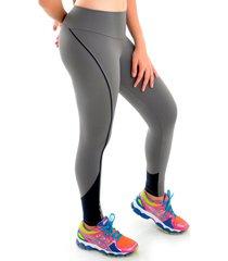 calça mama latina legging suplex com recorte cinza