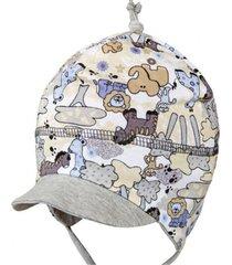 czapka wiązana zoo