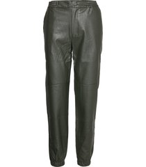 uluahsz pants leather leggings/broek groen saint tropez