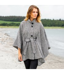 hourihan belted tweed cape black & white