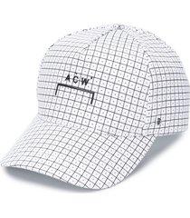 a-cold-wall* geometric print cap - white