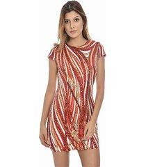 vestido primia lya multicolor