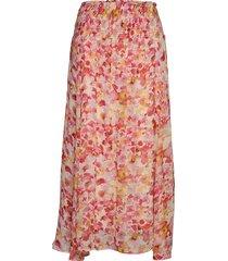 haydeniw midi skirt lång kjol rosa inwear