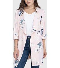 tapado ash tipo kimono rosa - calce regular